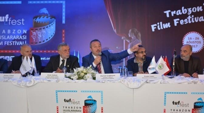 Trabzon Uluslararası Film Festivali İçin Trabzon Cephanelik'de Basın Toplantısı Yaptık